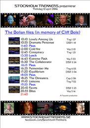 Trekdag 12 april - The Bolians files (Till Cliff Boles minne)